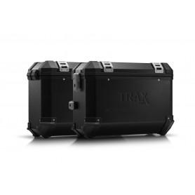 Sistema de maletas Honda CB500F / CBR500R (16-) TRAX ION 37L - 45L Negro/Plateado