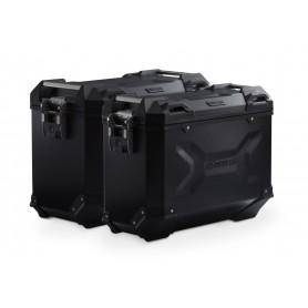 Sistema de maletas Honda CRF1000L / Adv Sports (18-) TRAX ADV 45/37L Negro/Plateado