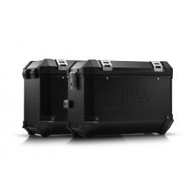Sistema de maletas Yamaha MT-09 Tracer (14-) TRAX ION 45 / 45 L Negro/Plateado