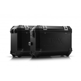 Sistema de maletas BMW F 800 / 700 / 650 GS (08-) TRAX ION 37/45 L Negro/Plateado