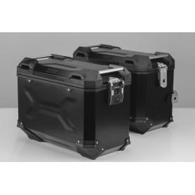 Sistema de maletas Ducati Multistrada Enduro/ 950 (16-) TRAX ADV 45/45 L Negro/Plateado