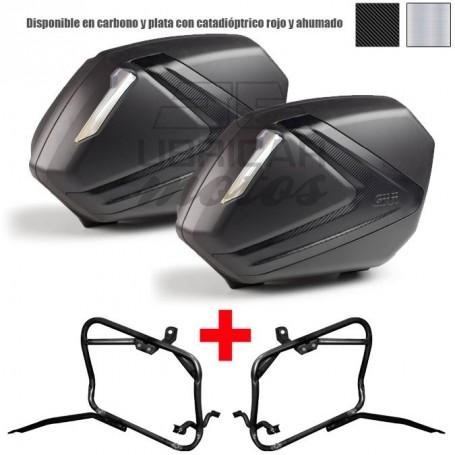 Sistema de maletas laterales rápido Givi V37 Honda CBF500/CBF600/CBF1000