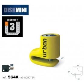 Candado Antirrobo Urban 564A Disk Mini ø5 Universal Moto y Scooter