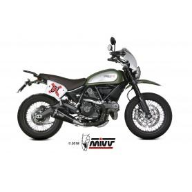 Silencioso Ducati Scrambler 800 2015- Mivv Delta Race Slip-On Acero Negro