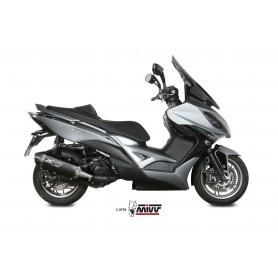 Silencioso Kymco Xciting 400 2013- Mivv Speed Edge Slip-On Acero Negro