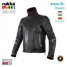 Chaqueta RUKKA ARAMOS Piel laminada 3 capas Negro Invierno