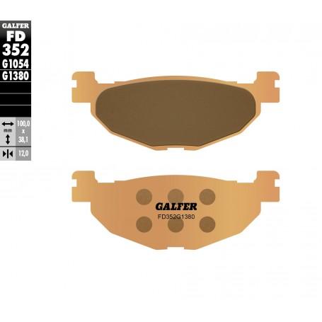 Pastillas Yamaha Majesty 400 04-10 Trasera GALFER G1380 Sinterizadas