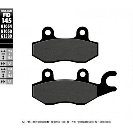 Pastillas Honda CBF250 -4 Delantera GALFER G1054 Semi Metálica