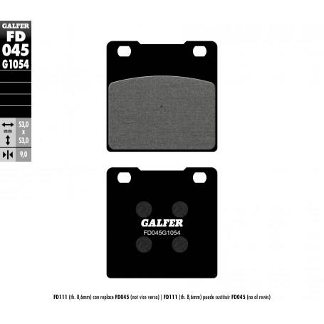 Pastillas Suzuki Gs500E 96-08 Trasera GALFER G1054 Semi Metálica