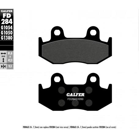 Pastillas Honda SH 125i-150i 04-08 Delantera GALFER G1050 Semi Metálica