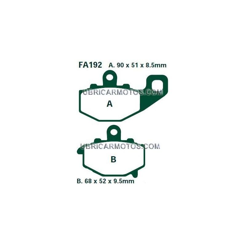 PASTILLAS KAWASAKI VERSYS 650 TRASERA EBC SINTERIZADAS HH 07>