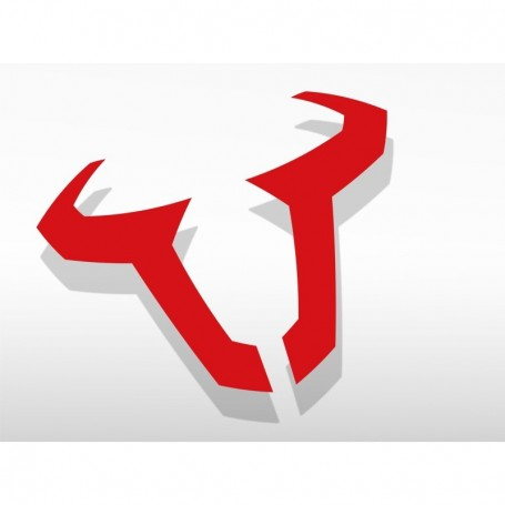 Adhesivo Logo Sw-Motech Rojo 85Mm Impermeable