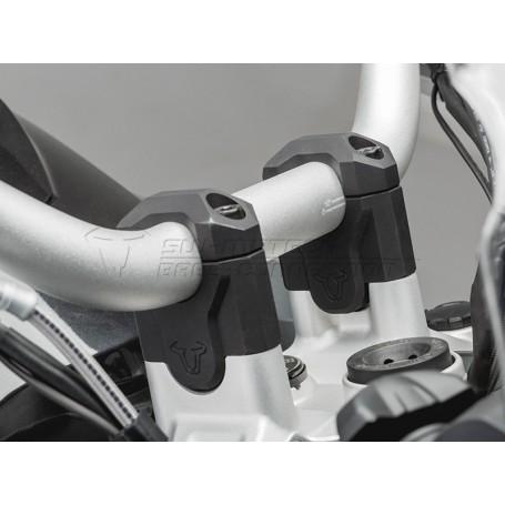 Elevador de Manillar BMW R 1200 GS Adventure13-14/ R 1250 GS 18- Eleva 40mm Negro/Plateado