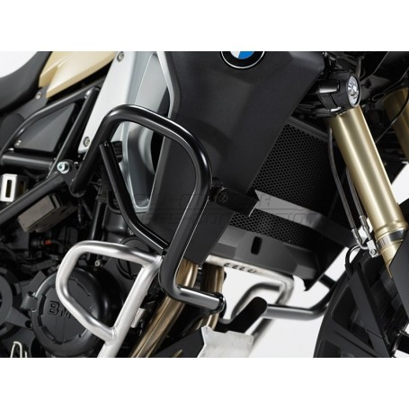 Defensas de motor BMW F 800 GS Adventure 2013- SW-MOTECH Negro