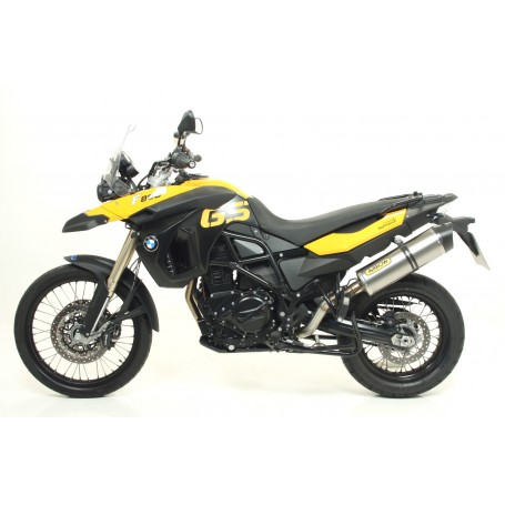 Silencioso ARROW BMW F800GS Y F800GS ADVENTURE 08-13 Aluminio punta carbono