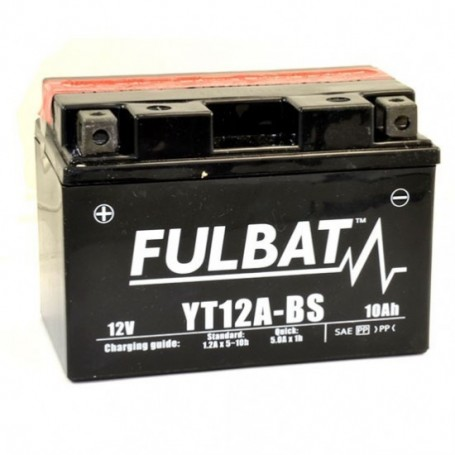 Bateria moto  Fulbat YT12A-BS sin mantenimiento