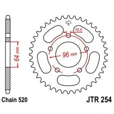 Corona Honda CBF250 04-05 JT JTR254.37 Acero 37 dientes