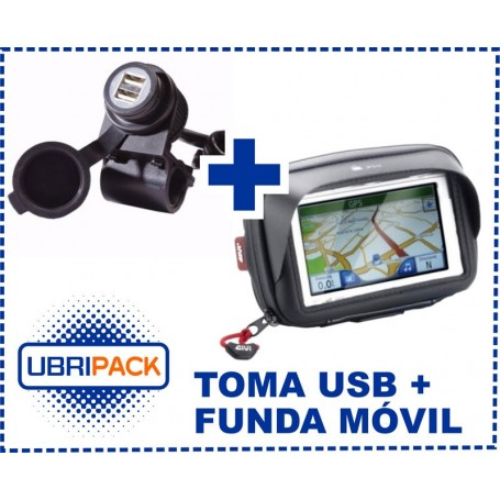 FUNDA GIVI S954B + CARGADOR DOBLE USB PACK