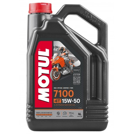 Aceite Motul 7100 15W50 4 Tiempos Sintetico 4 Litros