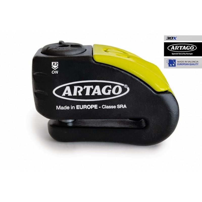 Candado antirrobo Artago 30X con alarma 120db y bateria de Lithium perno de 12mm