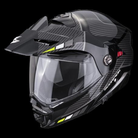 Casco Scorpion Exo ADX-2 Camino Amarillo/Plata/Negro Modular