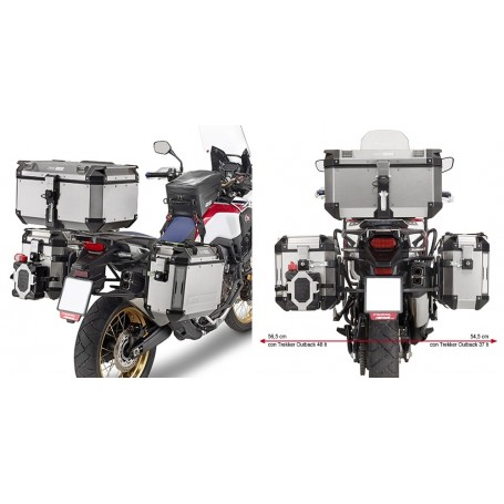 Sistema de Maletas Laterales Honda CRF 1000 L Africa Twin 16-17 Givi Outback