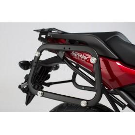 Soportes maletas laterales Honda NC 750X / 750S 2016- SW-MOTECH EVO Negro