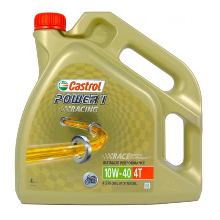 Aceite Castrol 10W40 Power 1 Racing sintetico 4T 4 Litros