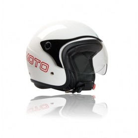CASCO JET BARRACUDA EN FIBRA COLOR BLANCO OUTLET