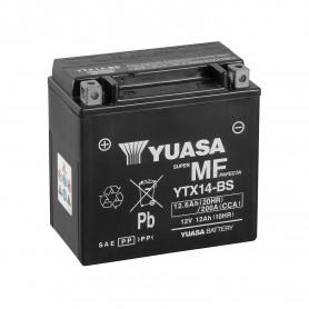 Bateria Moto YTX14-BS Yuasa Hermetica sin Mantenimiento