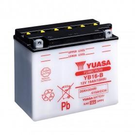 Batería Moto YB16-B Yuasa con Mantenimiento