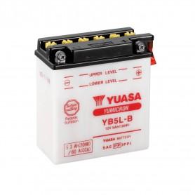 Batería Moto YB5L-B Yuasa con Mantenimiento