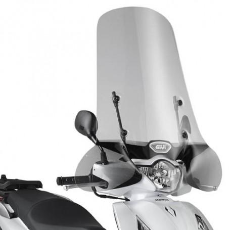 Cúpula Honda SH 125i-150i 2012- GIVI transparente con cubremanos
