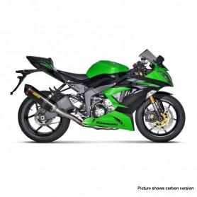 Sistema de Escape Akrapovic Kawasaki ZX-6R 09-16 Titanio Acero inoxidable Racing Line
