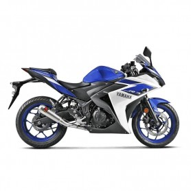 Sistema de Escape Akrapovic Yamaha YZF-R3 15-16 Acero inoxidable Racing Line
