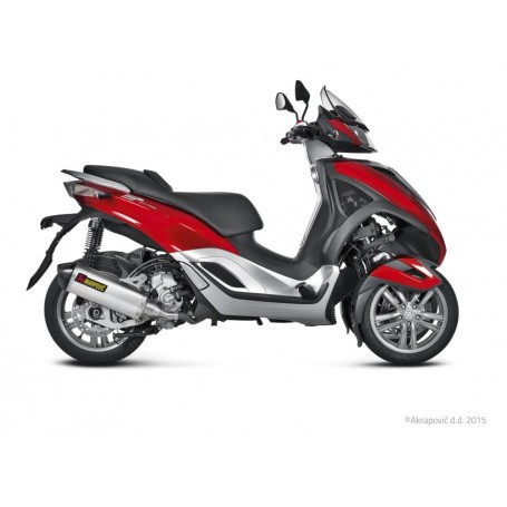 Escape Akrapovic Piaggio MP3 Yourban 300/300 LT 11-16 Acero inoxidable Slip-on Line