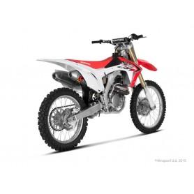 Escape Akrapovic Honda CRF250R 14-15 Acero inoxidable/Titanio (silenciadores dobles) Racing Line
