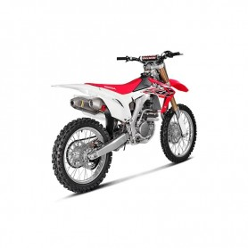 Escape Akrapovic Honda CRF250R 16 Acero inoxidable/Titanio (silenciadores dobles) Racing Line