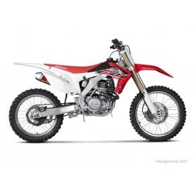 Escape Akrapovic Honda CRF450R 15-16 Acero inoxidable/Titanio (silenciadores dobles) Racing Line