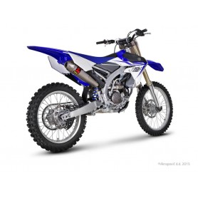 Escape Akrapovic Yamaha YZ250F 14-16 Acero inoxidable/Titanio Racing Line