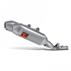 Escape Akrapovic Honda CRF250R 16 Acero inoxidable/Titanio (silenciadores dobles) Slip-on Line