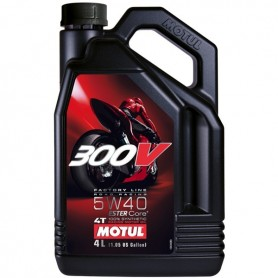 Aceite Motul 300V 5W40 Factory Line 4 Tiempos 4Lts