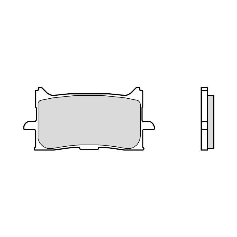 Pastillas de Freno Delantera Honda CRF 1000 L Africa Twin 2016 Brembo Sintetizadas