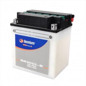 Bateria Moto YB30CL-B TECNIUM con mantenimiento