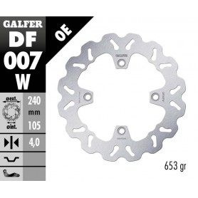 Disco Freno Galfer Wave DF007W Fijo OE