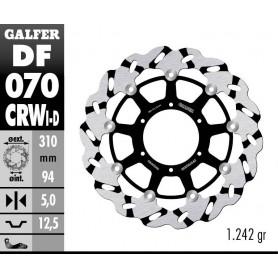 Disco Freno Galfer Wave DF070CRWI Flotante Ranurado Racing Delantero Izquierdo