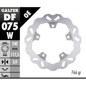 Disco Freno Galfer Wave DF075W Fijo Trasero OE