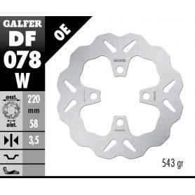 Disco Freno Galfer Wave DF078W Fijo Delantero OE