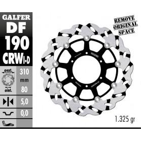 Disco Freno Galfer Wave DF190CRWD Flotante Ranurado Racing Delantero Derecho