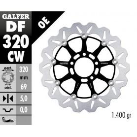 Disco Freno Galfer Wave DF320CW Flotante Núcleo Aluminio Delantero OE
